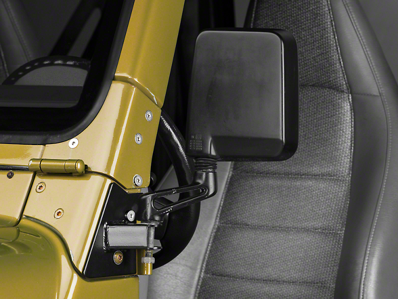 RT Off-Road Mirror Relocation Brackets - Black (97-02 Wrangler TJ)