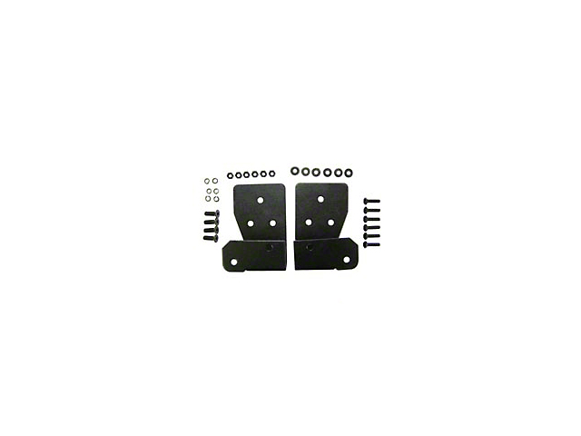Mirror Relocation Brackets - Black (03-06 Jeep Wrangler TJ)