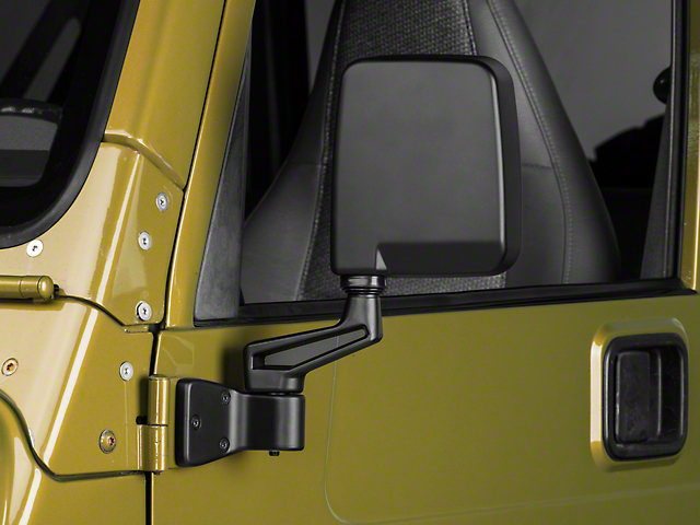 Door Mirrors; Black (87-02 Jeep Wrangler YJ & TJ)