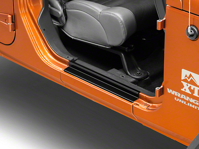 RT Off-Road Entry Guards - Black (07-18 Jeep Wrangler JK 2 Door)