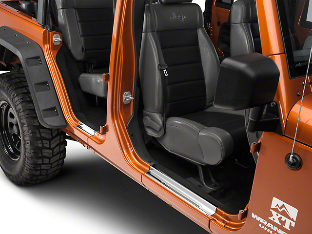 Entry Guards; Stainless Steel (07-18 Jeep Wrangler JK 4 Door)