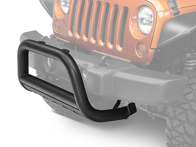 Barricade 3-Inch Bull Bar with Skid Plate; Textured Black (07-09 Jeep Wrangler JK)