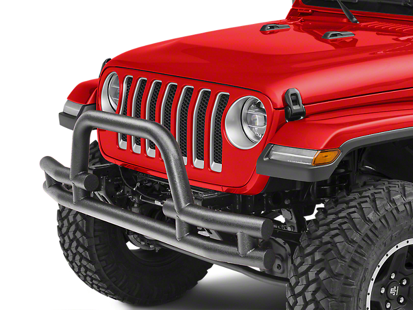 Barricade Tubular Front Bumper w/ Winch Cutout - Textured Black (18-19 Jeep Wrangler JL)