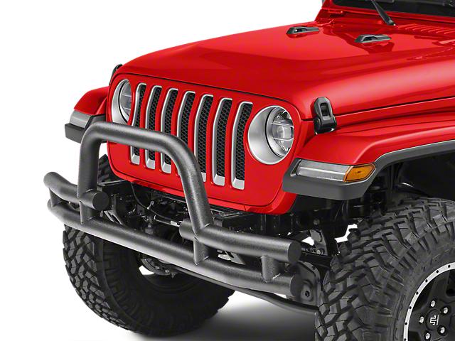 Barricade Tubular Front Bumper w/ Winch Cutout - Textured Black (18-20 Jeep Wrangler JL)