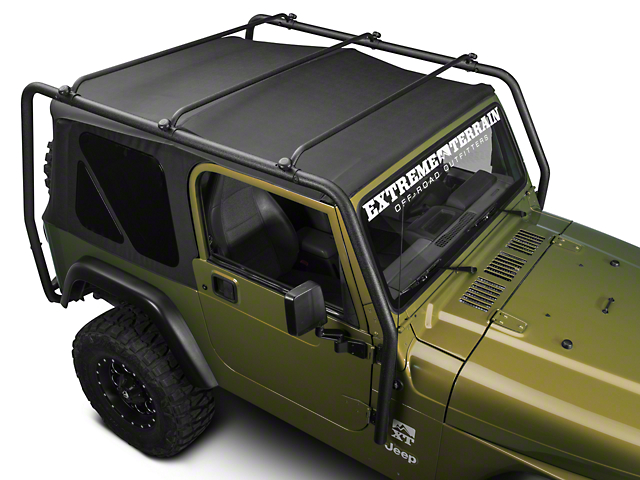 Barricade Roof Rack; Textured Black (97-06 Jeep Wrangler TJ, Excluding Unlimited)