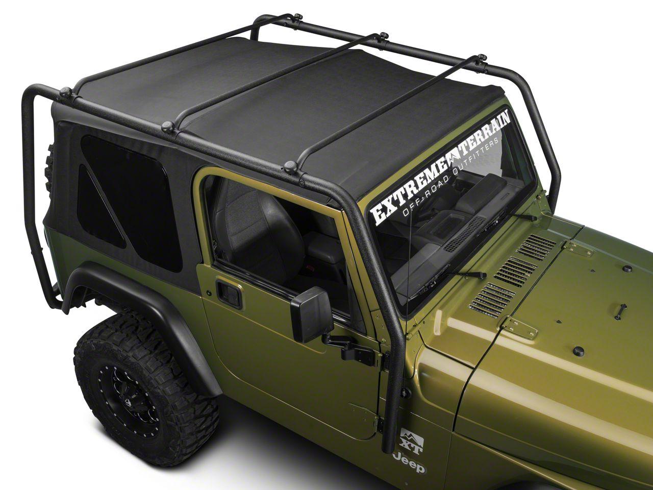 Barricade Jeep Wrangler Roof Rack Textured Black J100172 97 06 Jeep Wrangler Tj Excluding Unlimited