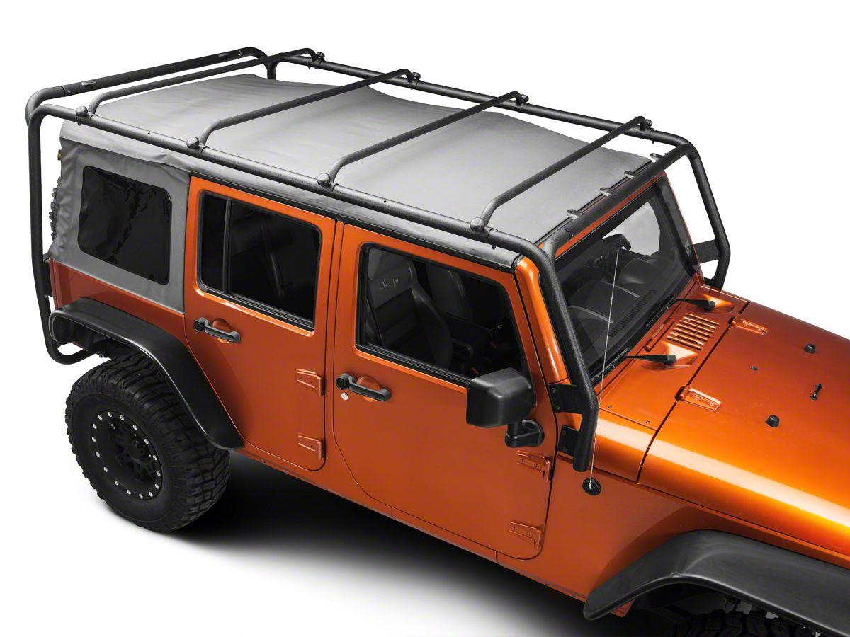 Wrangler Roof Rack >> Barricade Roof Rack Textured Black 07 18 Jeep Wrangler Jk 4 Door