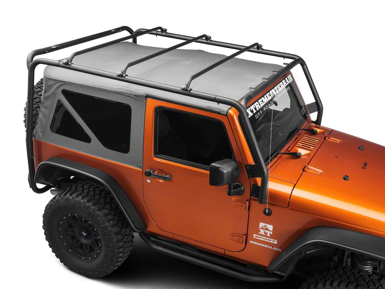 Barricade Jeep Wrangler Roof Rack Textured Black J100174 07 18 Jeep Wrangler Jk 2 Door