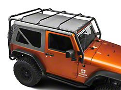 Barricade Roof Rack; Textured Black (07-18 Jeep Wrangler JK 2 Door)