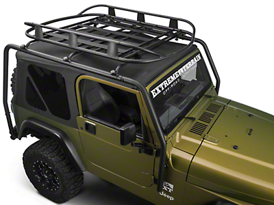 Barricade Roof Rack Basket - Textured Black (87-06 Wrangler TJ & YJ)