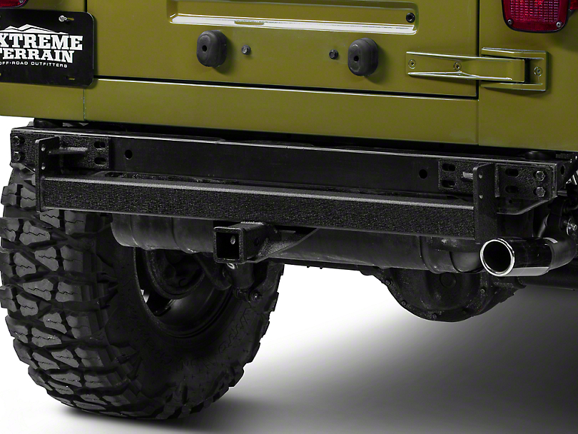 RedRock 4x4 Hitch - Textured Black (87-06 Jeep Wrangler YJ & TJ)