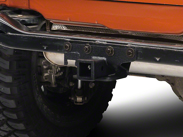 RedRock 4x4 Hitch; Textured Black (07-18 Jeep Wrangler JK)