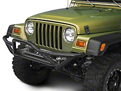 RedRock 4x4 Rock Crawler Front Grille Guard; Textured Black (87-06 Jeep Wrangler YJ & TJ)