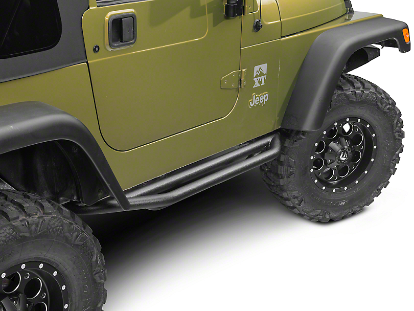 RedRock 4x4 Side Armor - Textured Black (87-06 Jeep Wrangler YJ & TJ, Excluding Unlimited)