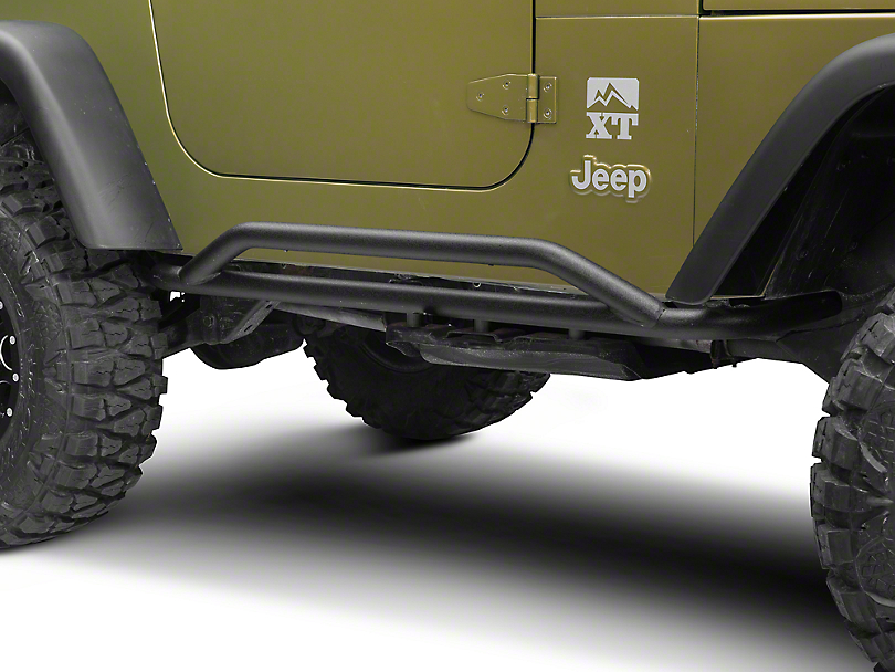 RedRock 4x4 Rocker Guard - Textured Black (87-06 Wrangler YJ & TJ)