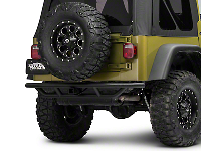 RedRock 4x4 Rock Crawler Rear Bumper - Textured Black (97-06 Wrangler TJ)