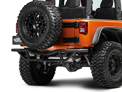 RedRock 4x4 Rock Crawler Rear Bumper - Textured Black (07-18 Jeep Wrangler JK)