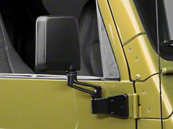 OPR Black Replacement Mirror - Passenger Side (87-02 Jeep Wrangler YJ & TJ)