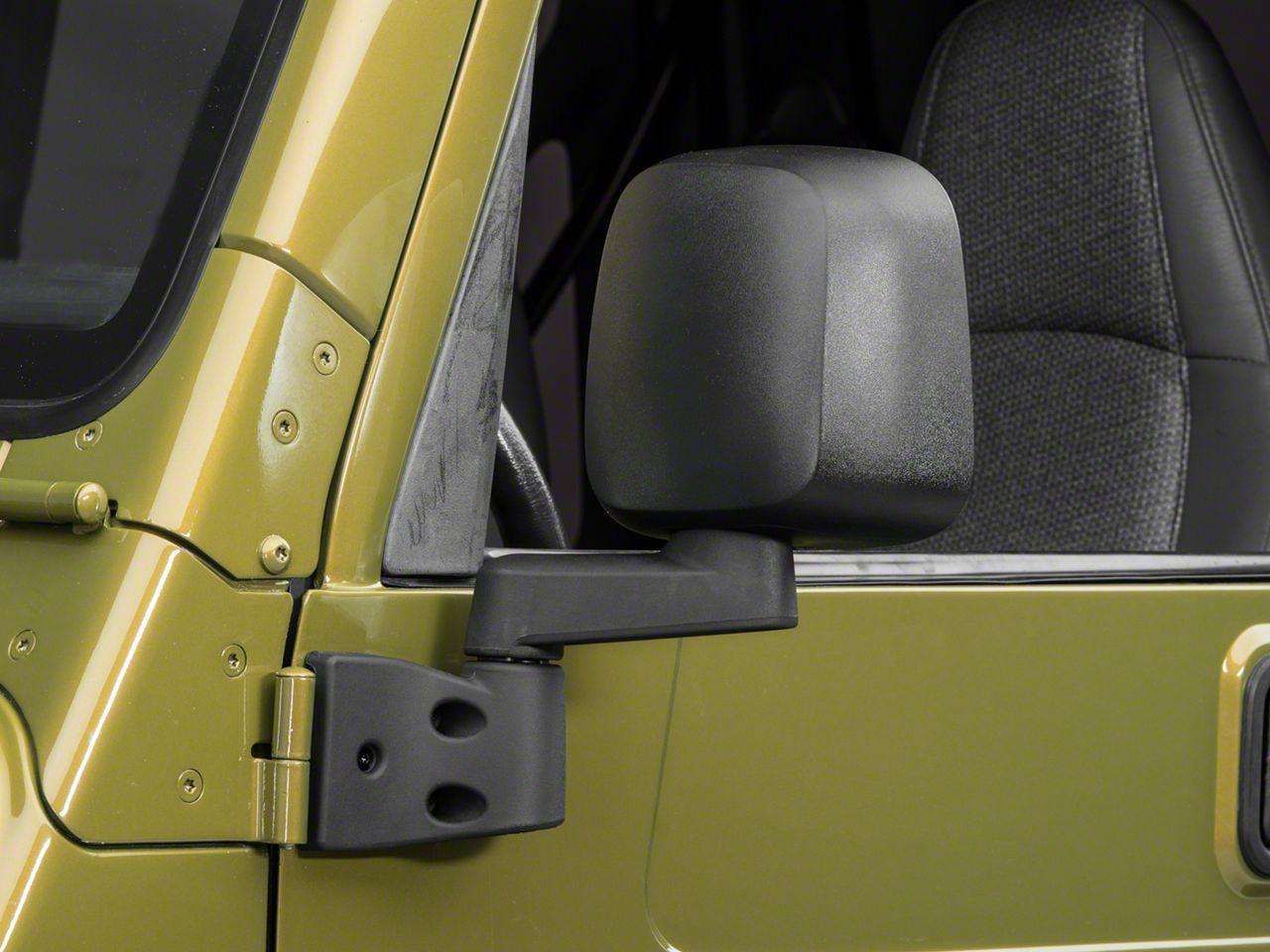 OPR Left Side Replacement Mirror - Black (03-06 Jeep Wrangler TJ)