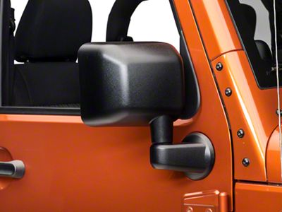 Add Right Side Replacement Mirror - Textured Black (07-17 Wrangler JK)