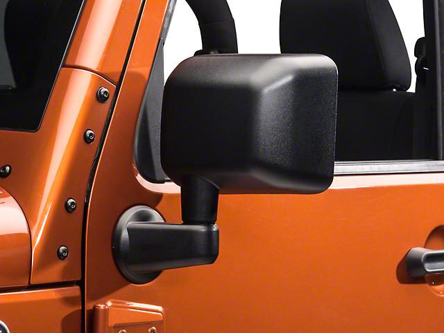 OPR Left Side Replacement Mirror (Power/Heated) - Textured Black (11-13 Jeep Wrangler JK)