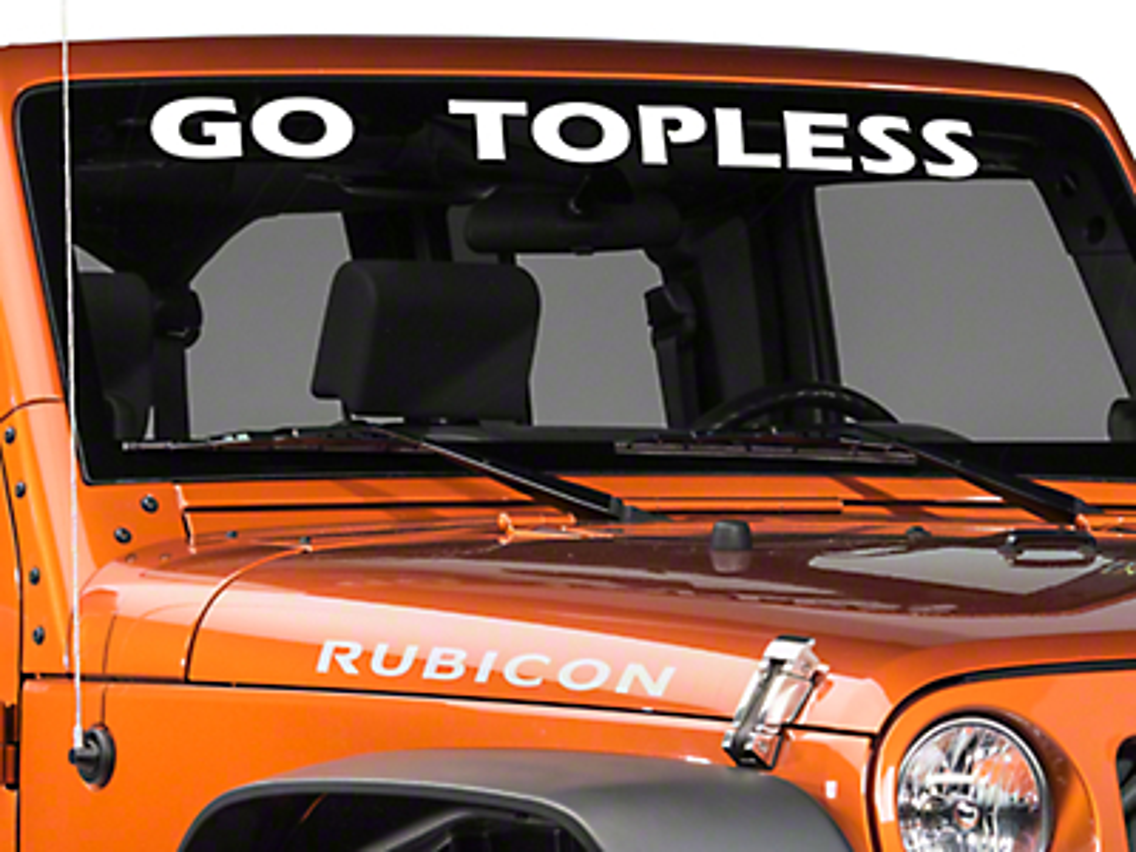 Go Topless Windshield Banner - White (87-18 Wrangler YJ, TJ, JK & JL)