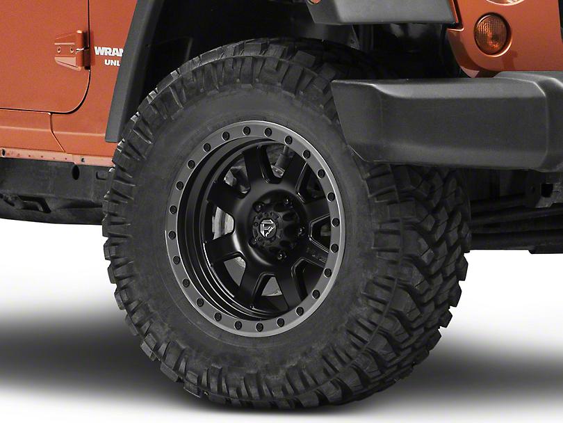 Fuel Wheels Trophy Matte Black w/ Anthracite Ring Wheel - 17x8.5 (07-18 Wrangler JK; 2018 Wrangler JL)
