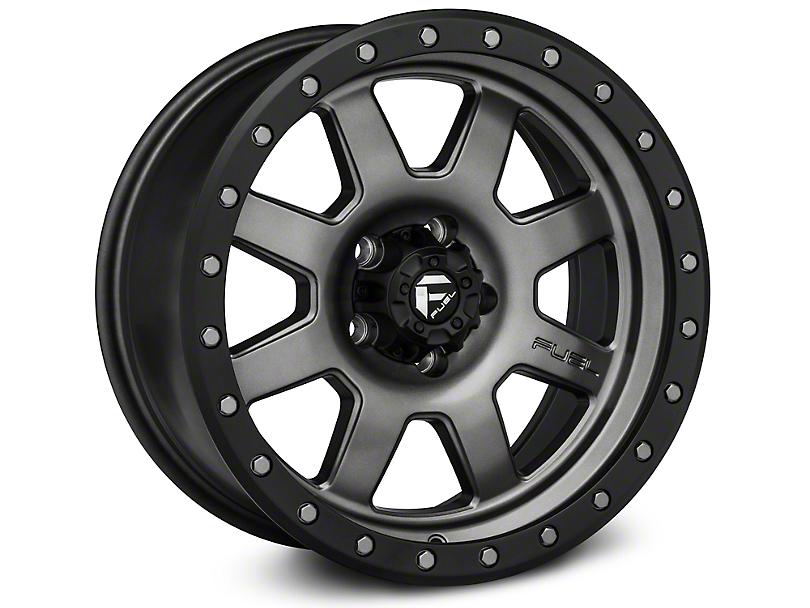 Fuel Wheels Trophy Matte Anthracite w/ Black Ring Wheel - 17x8.5 (97-06 Jeep Wrangler TJ)