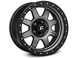 Fuel Wheels Trophy Matte Anthracite with Black Ring Wheel; 17x8.5 (97-06 Jeep Wrangler TJ)
