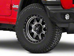Fuel Wheels Trophy Matte Anthracite with Black Ring Wheel; 17x8.5 (18-20 Jeep Wrangler JL)