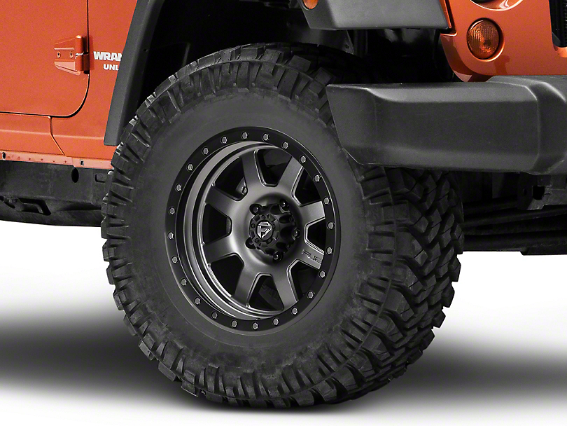 Fuel Wheels Trophy - Matte Anthracite/ Black Ring 17x8.5 (07-18 Wrangler JK)