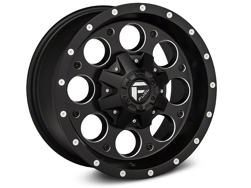 Fuel Wheels Revolver Black Milled Wheel - 16x8 (07-18 Jeep Wrangler JK)