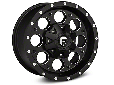 Fuel Wheels Revolver Black Milled Wheel - 16x8 (07-18 Wrangler JK)