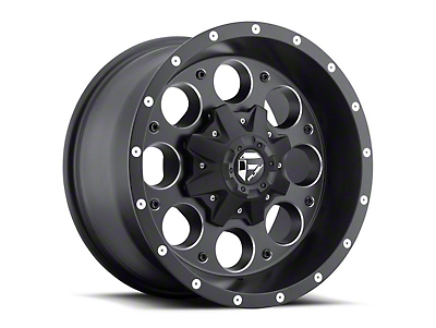 Fuel Wheels Revolver Black Milled Wheel - 16x8 (97-06 Jeep Wrangler TJ)
