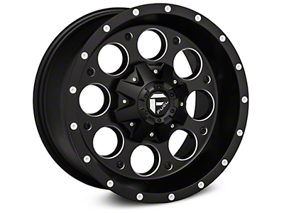 Fuel Wheels Revolver Black Milled Wheel - 17x9 (07-18 Wrangler JK)