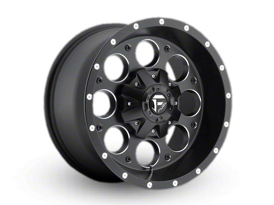 Fuel Wheels Revolver Black Milled Wheel - 17x9 (87-95 Wrangler YJ)