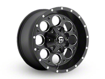 Fuel Wheels Revolver Black Milled Wheel - 17x9 (97-06 Wrangler TJ)