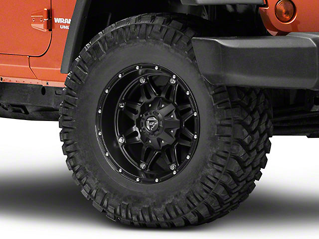 Fuel Wheels Hostage Matte Black Wheel; 17x9 (07-18 Jeep Wrangler JK)
