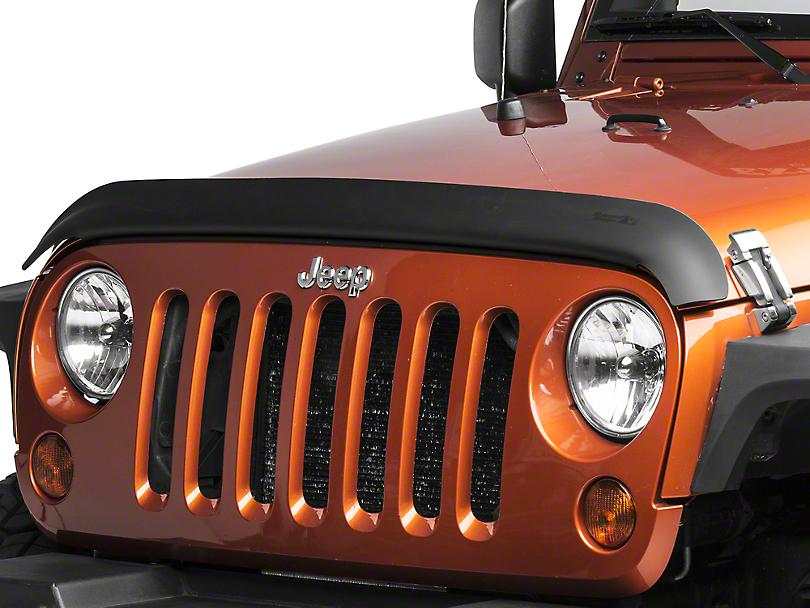 Rugged Ridge Bug Deflector - Matte Black (07-18 Jeep Wrangler JK)
