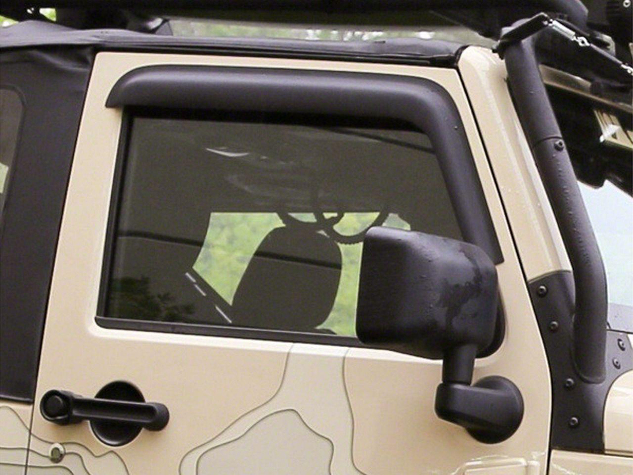 Rugged Ridge Window Visors - Matte Black (07-18 Jeep Wrangler JK 2 Door)