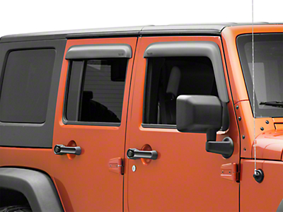 Rugged Ridge Window Visors - Matte Black (07-18 Jeep Wrangler JK 4 Door)
