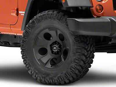 Rugged Ridge Drakon Satin Black Wheel - 17x9 (07-18 Wrangler JK; 2018 Wrangler JL)