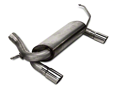 RedRock 4x4 Dual Outlet Axle-Back Exhaust w/ Polished Tips (07-18 Jeep Wrangler JK)