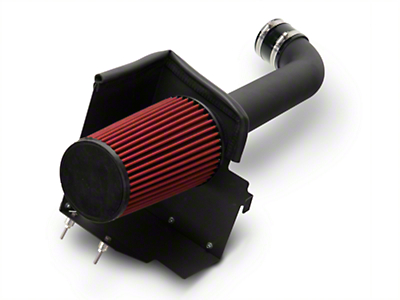RedRock 4x4 Cold Air Intake Kit - Black Wrinkle Coating (12-18 3.6L Jeep Wrangler JK)