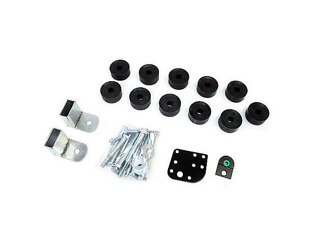 Teraflex 1 in. Body Lift Kit w/o Shocks (97-06 Jeep Wrangler TJ)