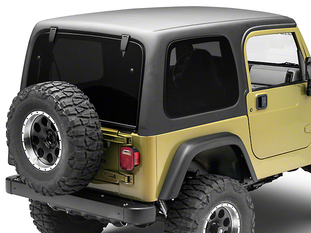 rally tops wrangler 1 piece hardtop for full doors tj1ht. Black Bedroom Furniture Sets. Home Design Ideas