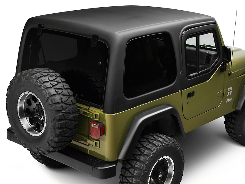 rally tops jeep wrangler one piece hardtop for half doors tj1hthd 97 06 jeep wrangler tj. Black Bedroom Furniture Sets. Home Design Ideas