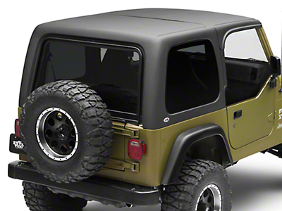 Rally Tops Two Piece Hardtop for Half Doors (97-06 Jeep Wrangler TJ, Excluding Unlimited)