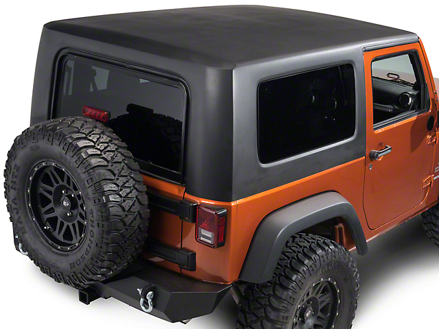One-Piece Hard Top; Black (07-18 Jeep Wrangler JK 2 Door)
