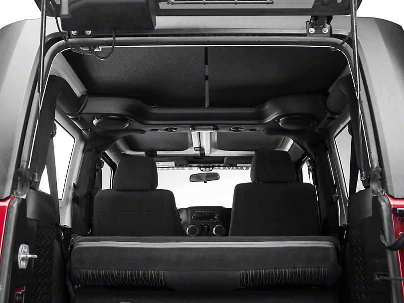 Boom Mat Sound Deadening Headliner - Black (11-18 Jeep Wrangler JK 2 Door)
